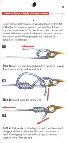 Tying strong fishing knots freshwater saltwater tackle for Strongest fishing knots