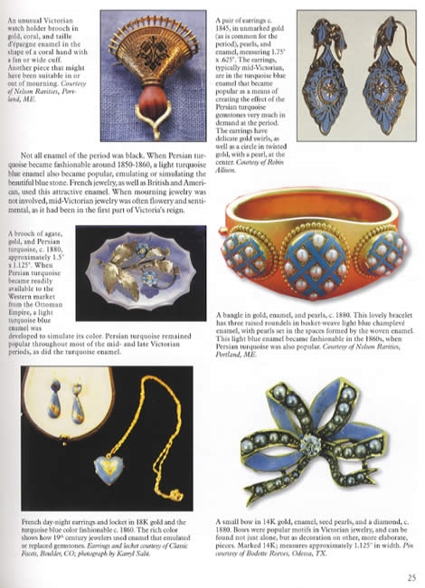 antique enameled jewelry collector reference crafts deco nouveau ebay